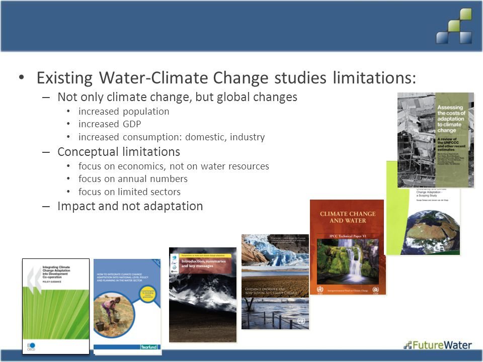 Existing Water-Climate Change studies limitations: