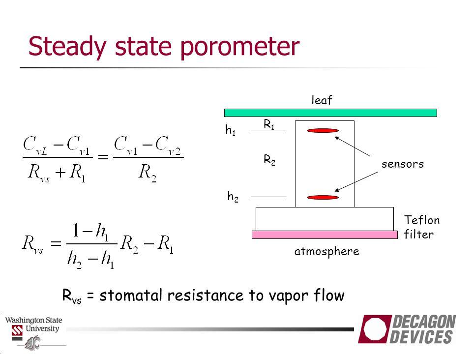Steady state porometer
