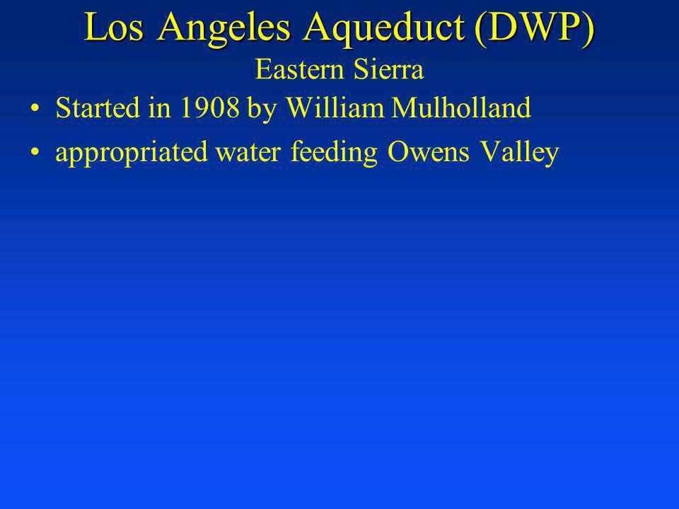 Los Angeles Aqueduct (DWP) Eastern Sierra