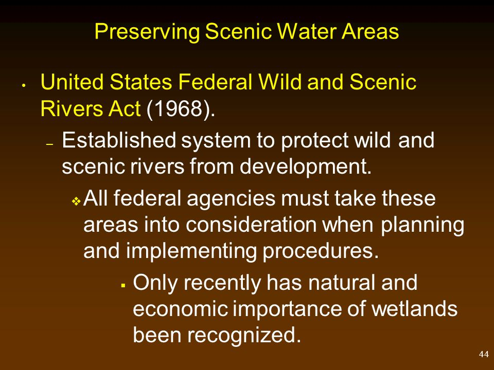Preserving Scenic Water Areas