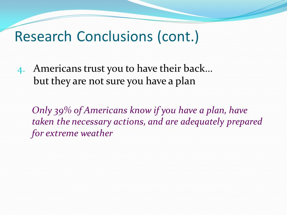 Research Conclusions (cont.)