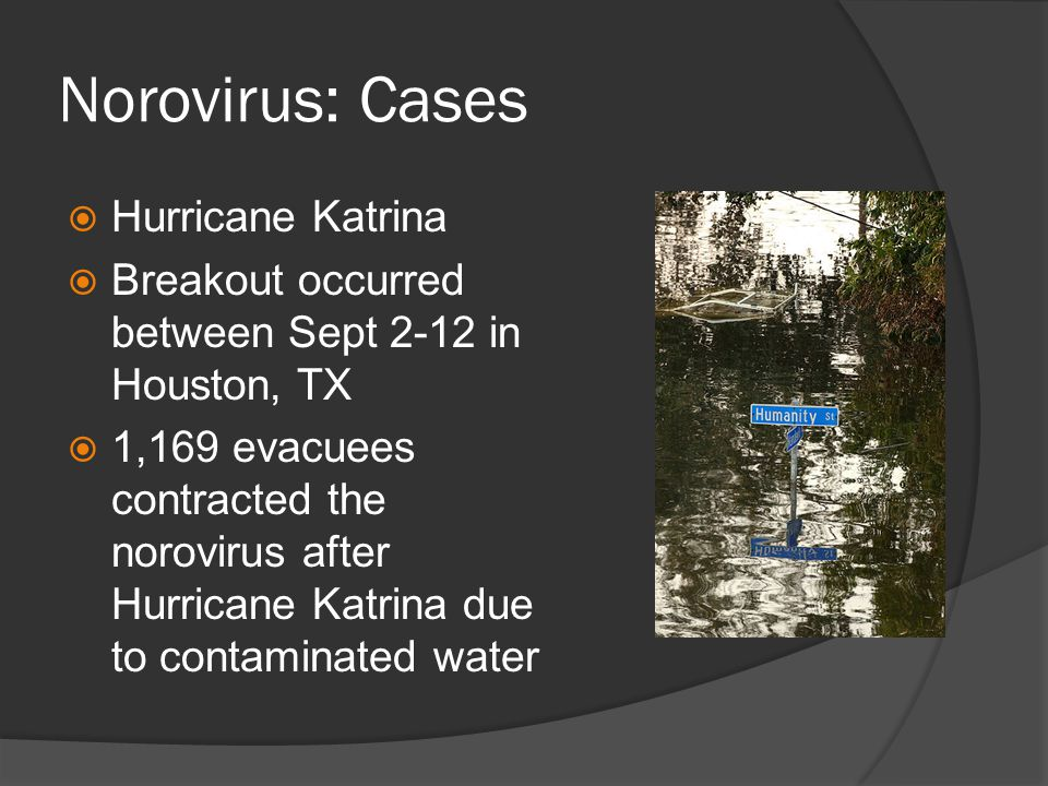 Norovirus: Cases Hurricane Katrina