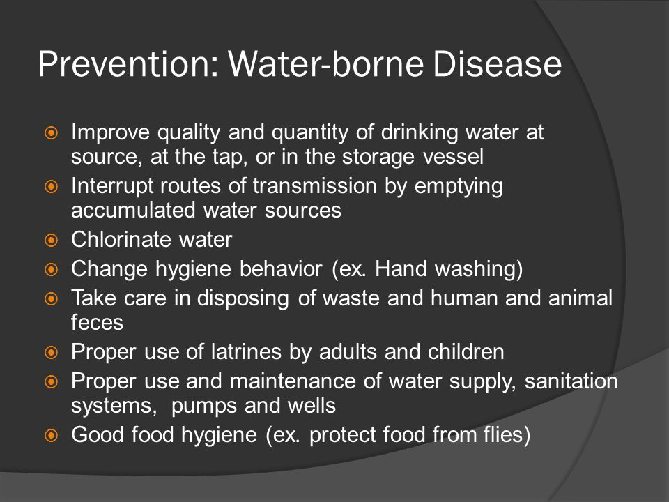 Prevention: Water-borne Disease