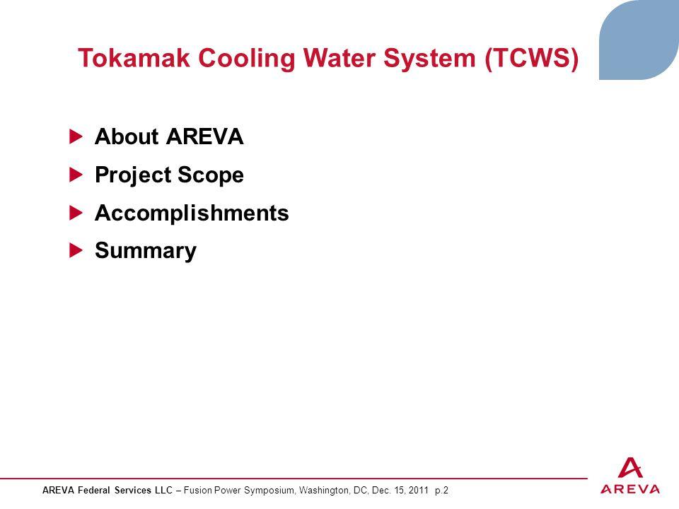 Tokamak Cooling Water System (TCWS)