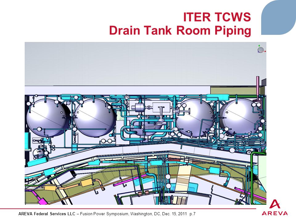 ITER TCWS Drain Tank Room Piping