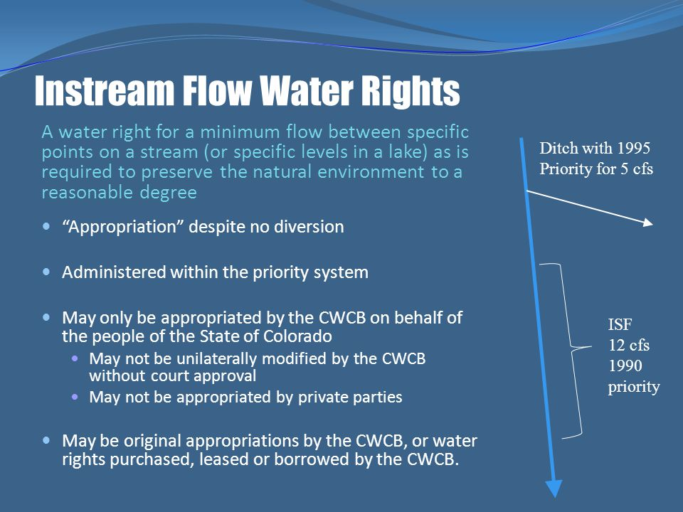 Instream Flow Water Rights