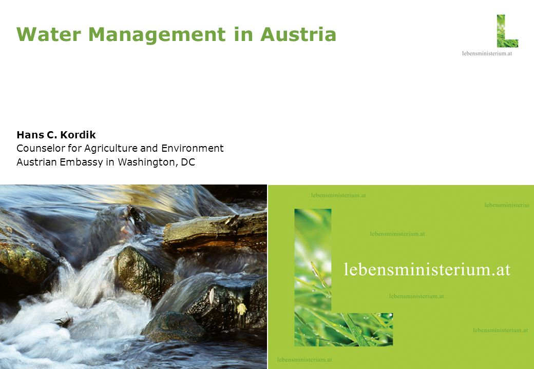 Water Management in Austria