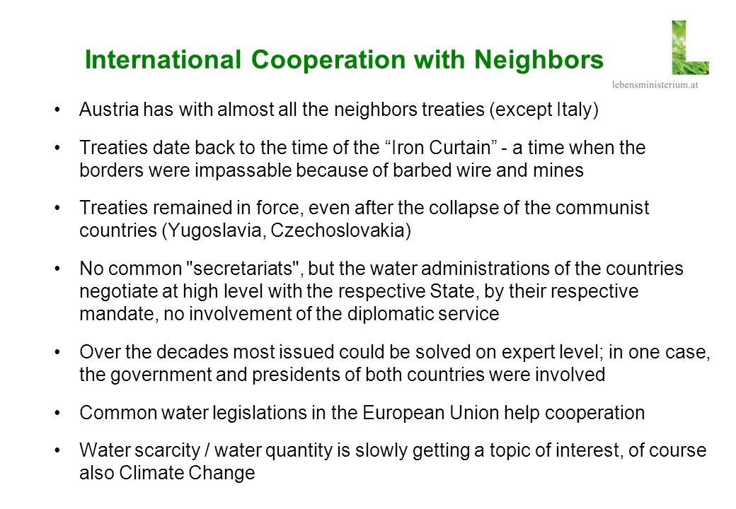International Cooperation with Neighbors