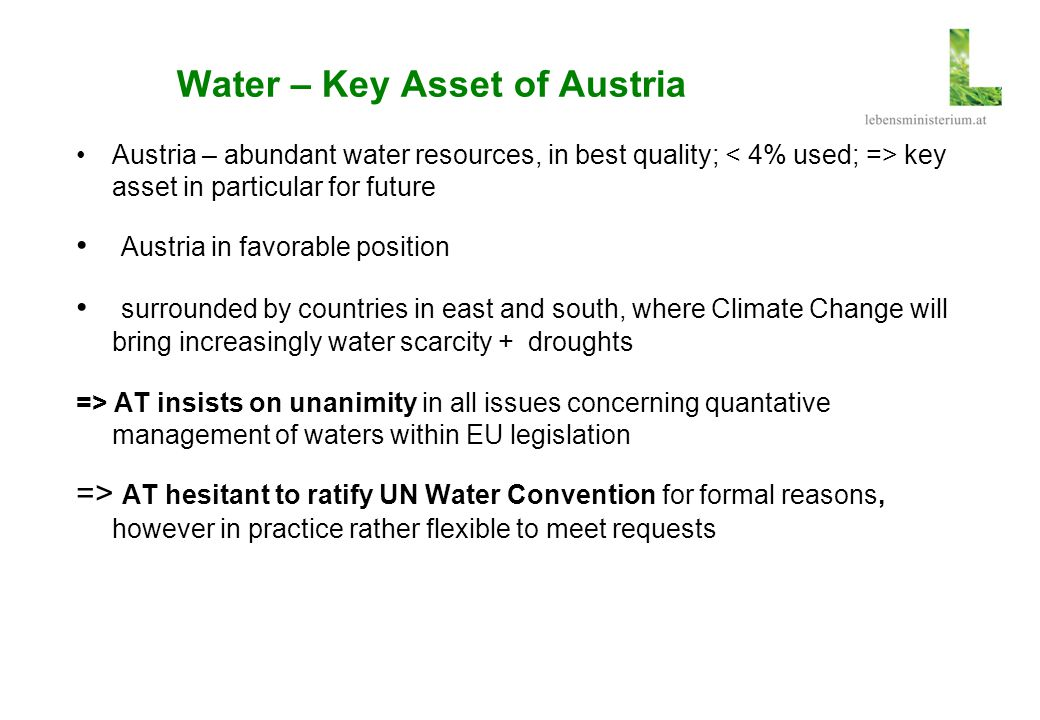 Water – Key Asset of Austria