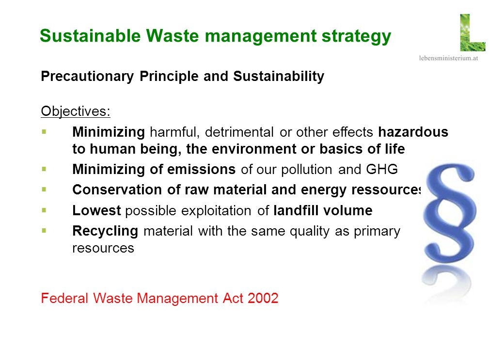Sustainable Waste management strategy