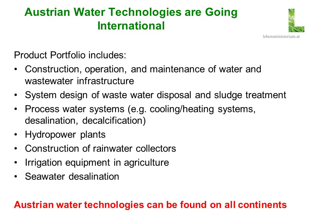 Austrian Water Technologies are Going International