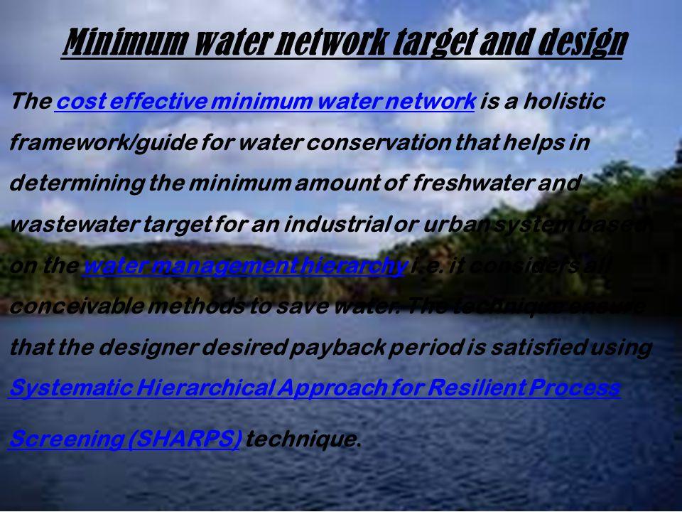 Minimum water network target and design