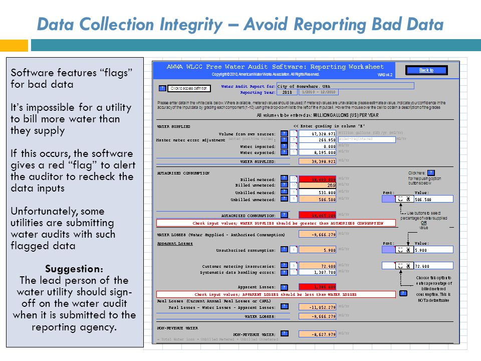 Data Collection Integrity – Avoid Reporting Bad Data