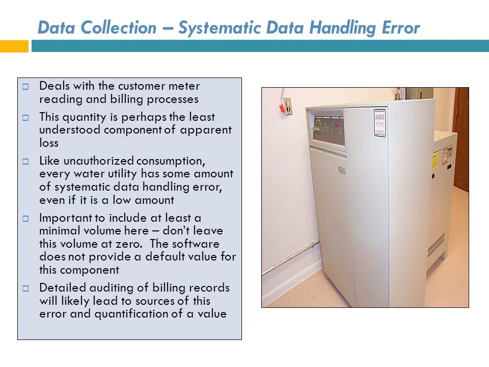 Data Collection – Systematic Data Handling Error