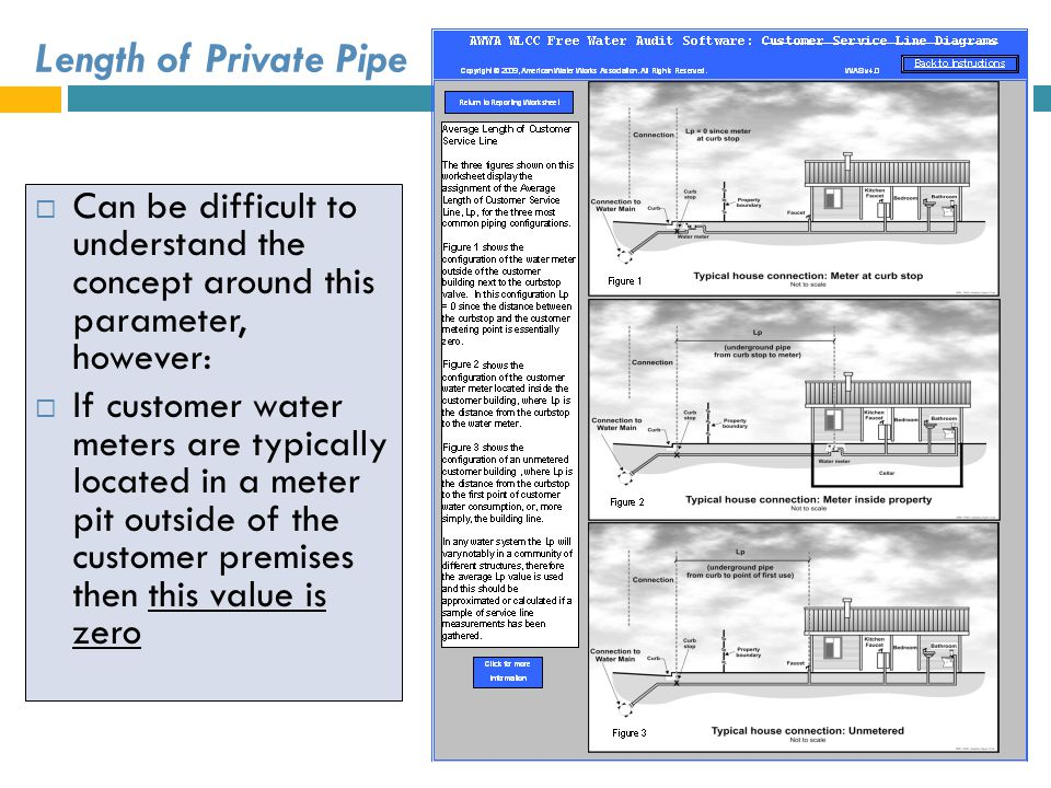 Length of Private Pipe Can be difficult to understand the concept around this parameter, however: