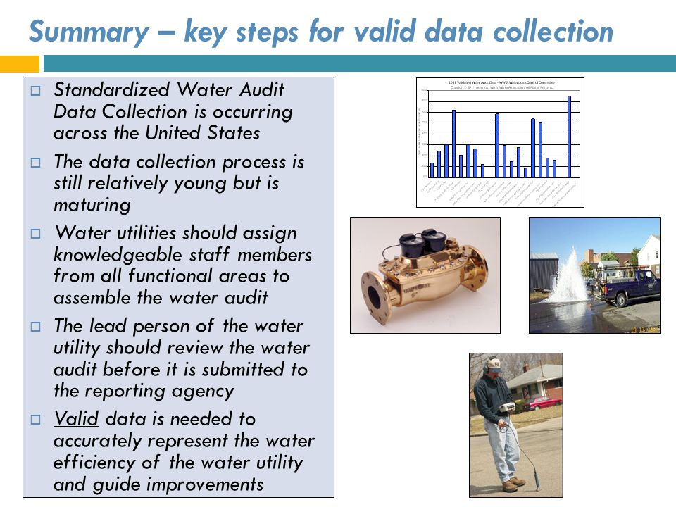 Summary – key steps for valid data collection
