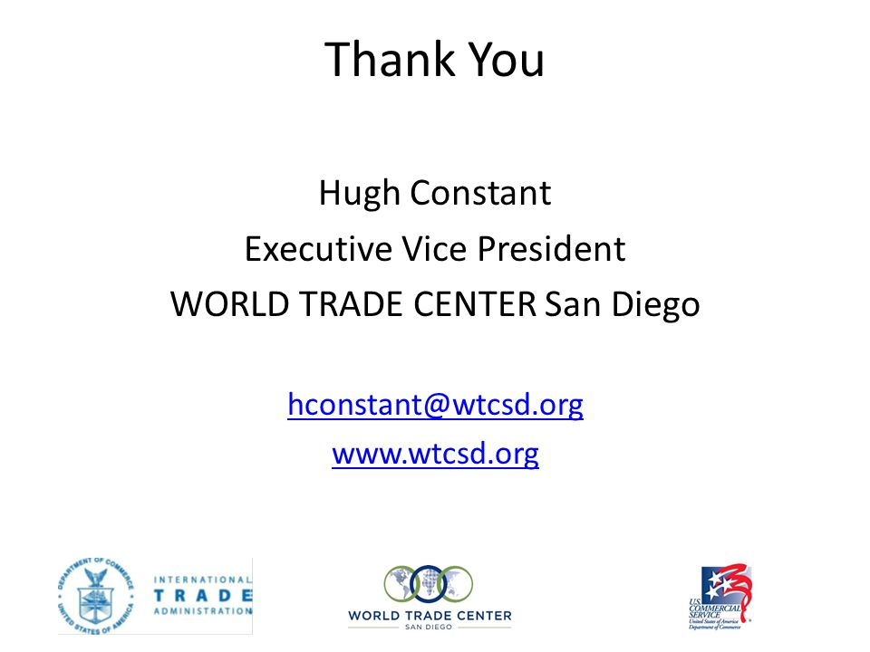 Thank You Hugh Constant Executive Vice President