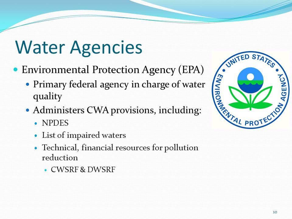 Water Agencies Environmental Protection Agency (EPA)