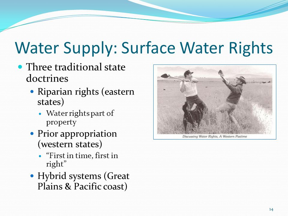 Water Supply: Surface Water Rights