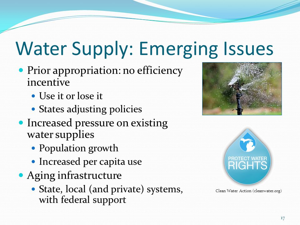 Water Supply: Emerging Issues
