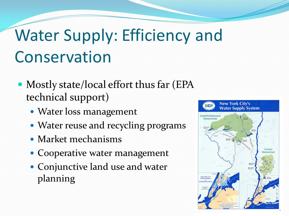 Water Supply: Efficiency and Conservation