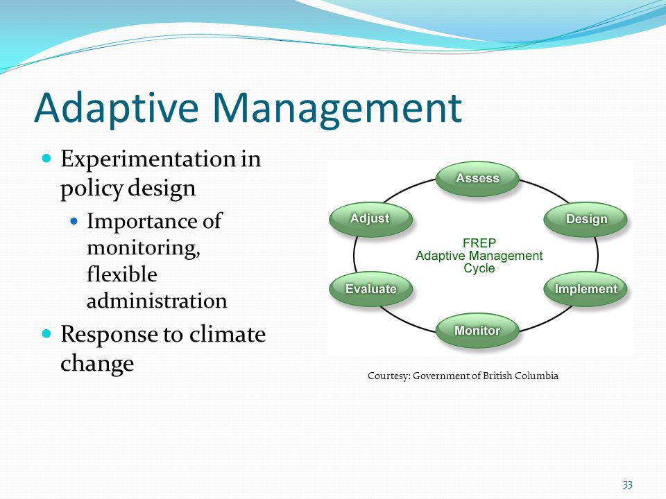 Adaptive Management Experimentation in policy design