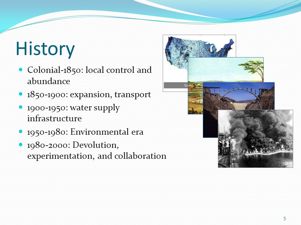 History Colonial-1850: local control and abundance