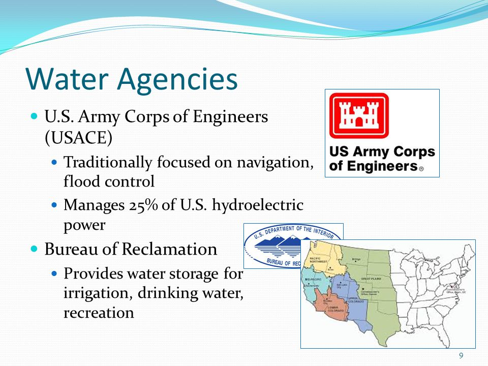 Water Agencies U.S. Army Corps of Engineers (USACE)