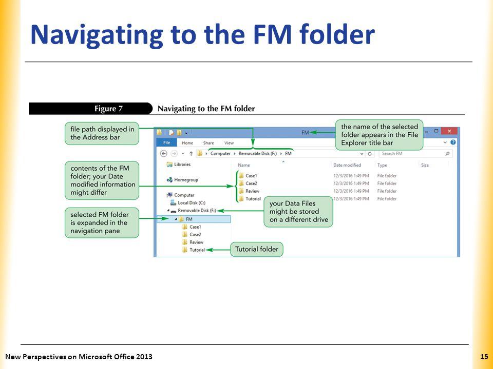 Navigating to the FM folder