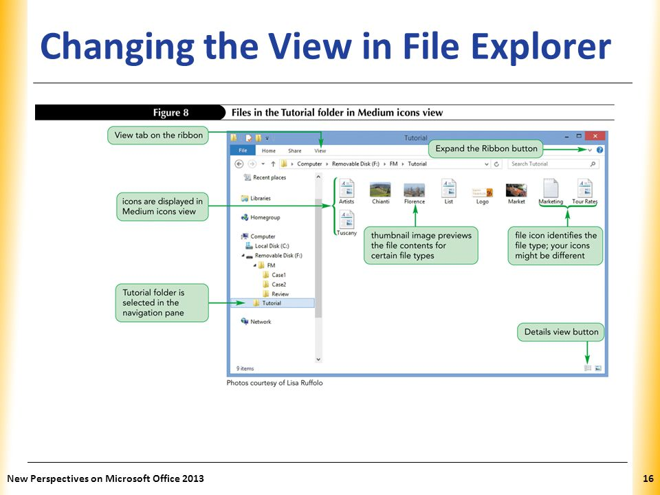 Changing the View in File Explorer