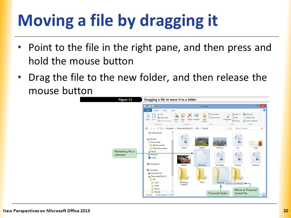 Moving a file by dragging it