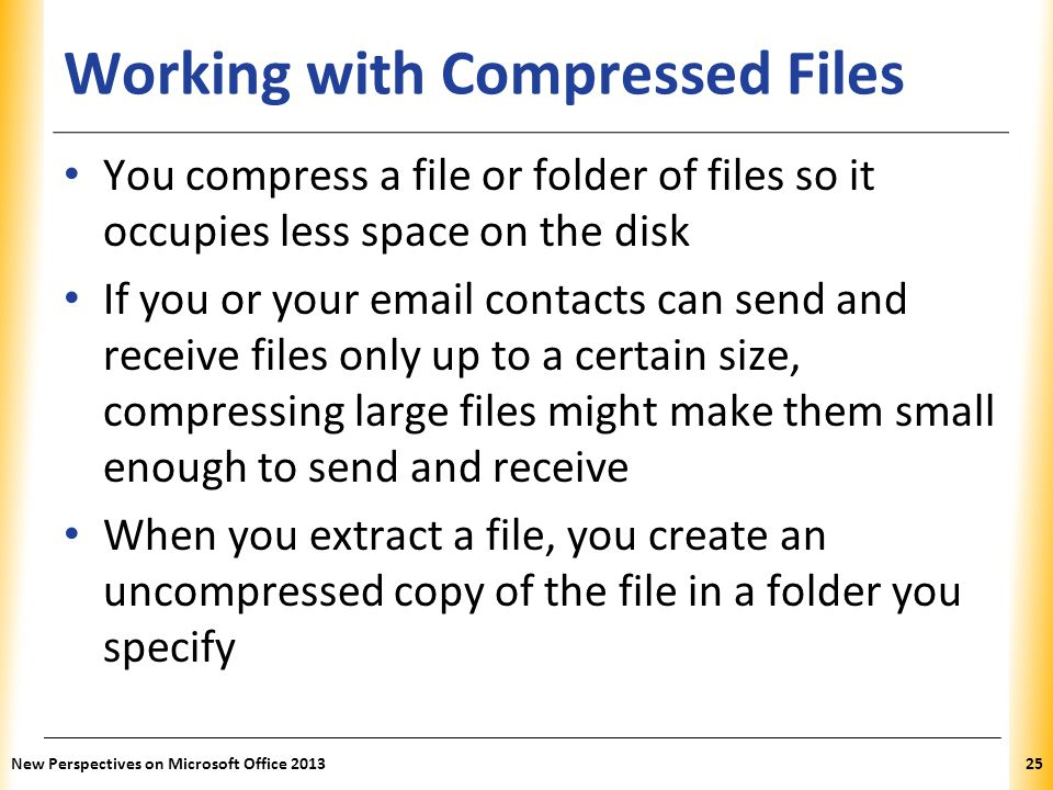 Working with Compressed Files