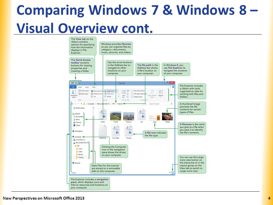 Comparing Windows 7 & Windows 8 – Visual Overview cont.