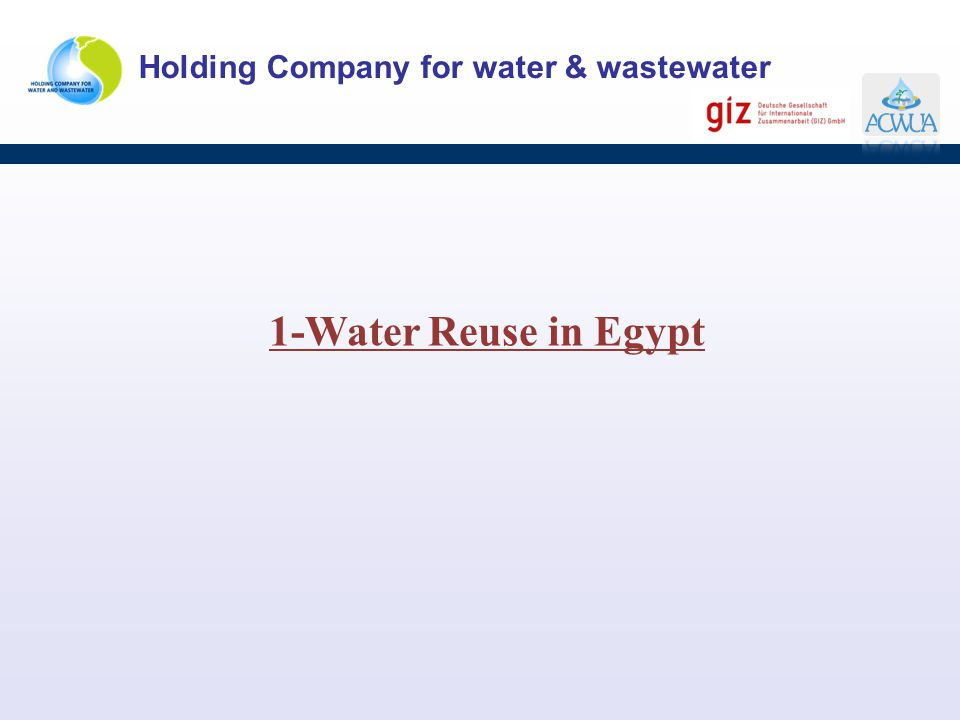 1-Water Reuse in Egypt