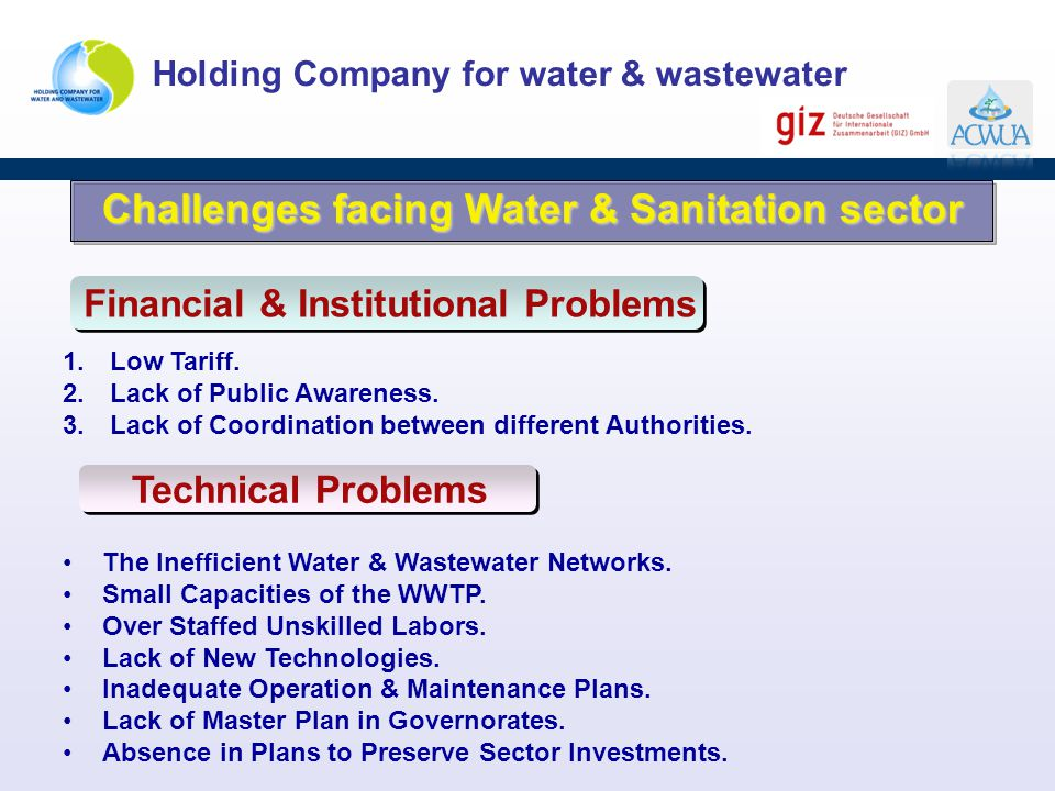 Challenges facing Water & Sanitation sector