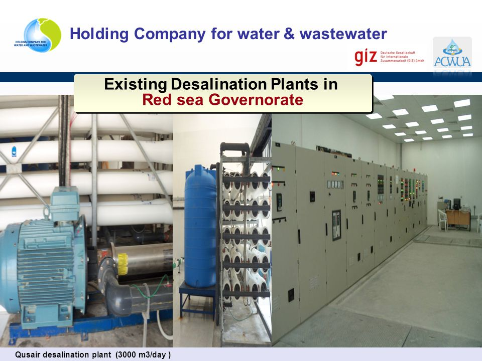 Existing Desalination Plants in Red sea Governorate