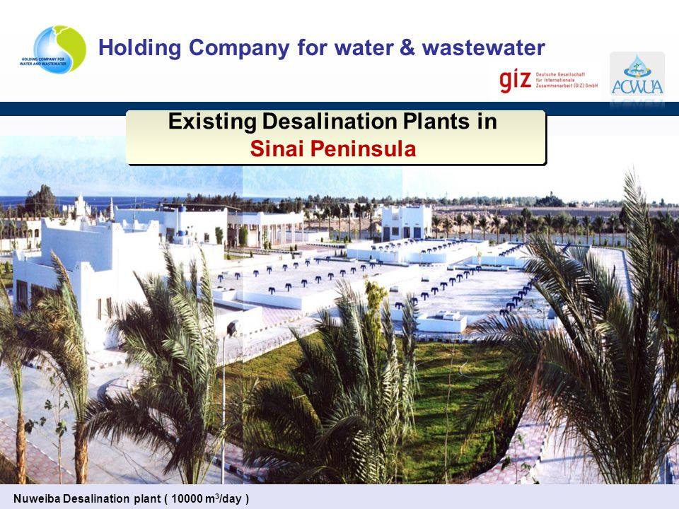 Existing Desalination Plants in Sinai Peninsula