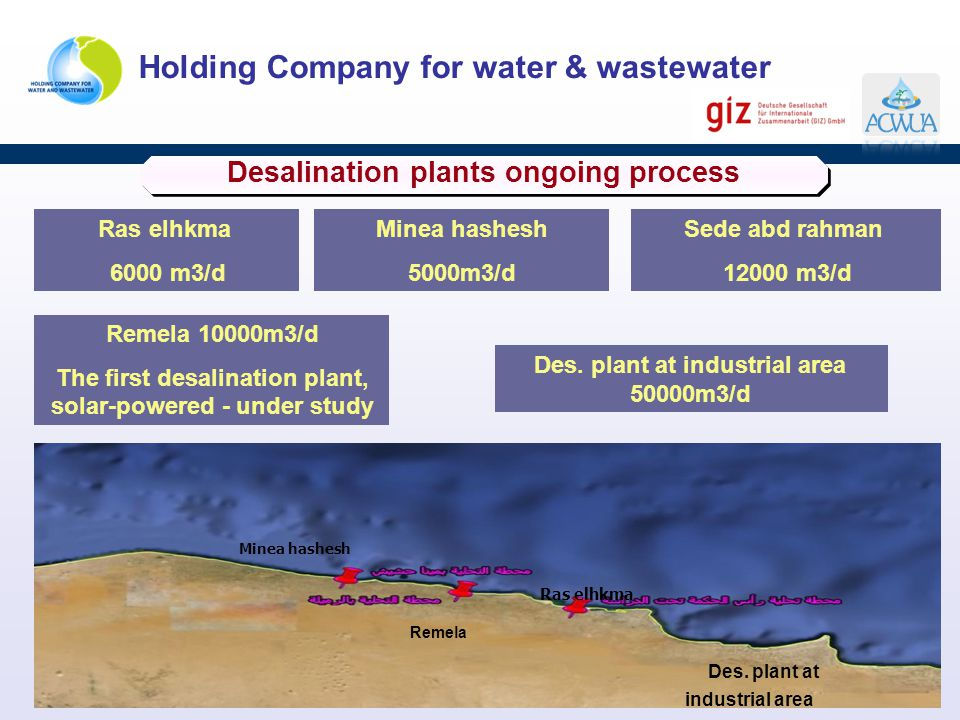 Desalination plants ongoing process
