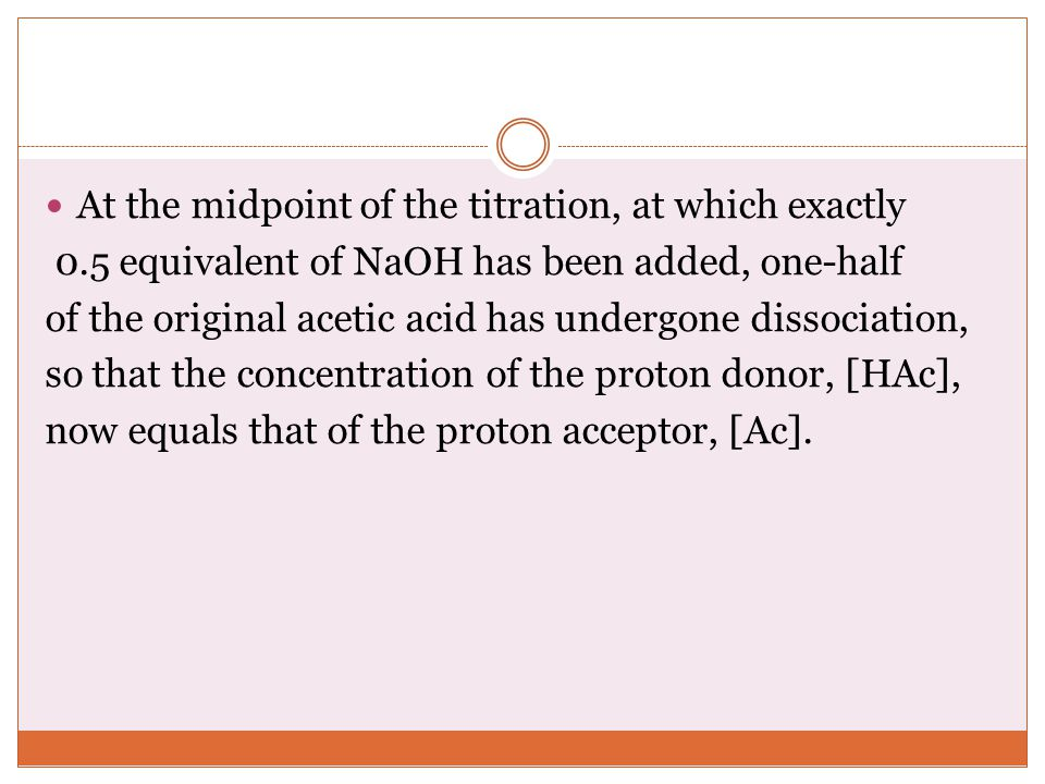 At the midpoint of the titration, at which exactly