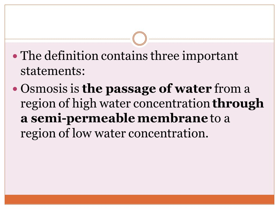 The definition contains three important statements: