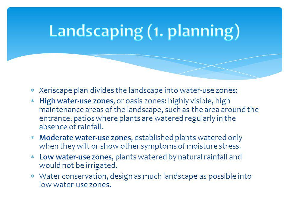 Landscaping (1. planning)