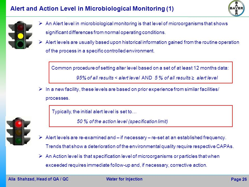 Alert and Action Level in Microbiological Monitoring (1)