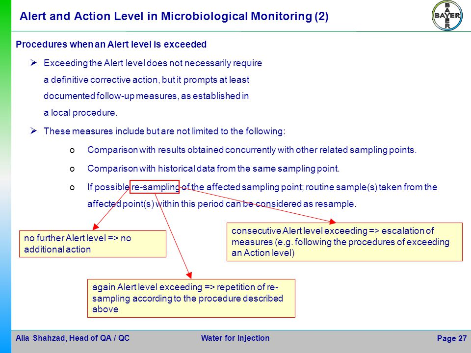 Alert and Action Level in Microbiological Monitoring (2)