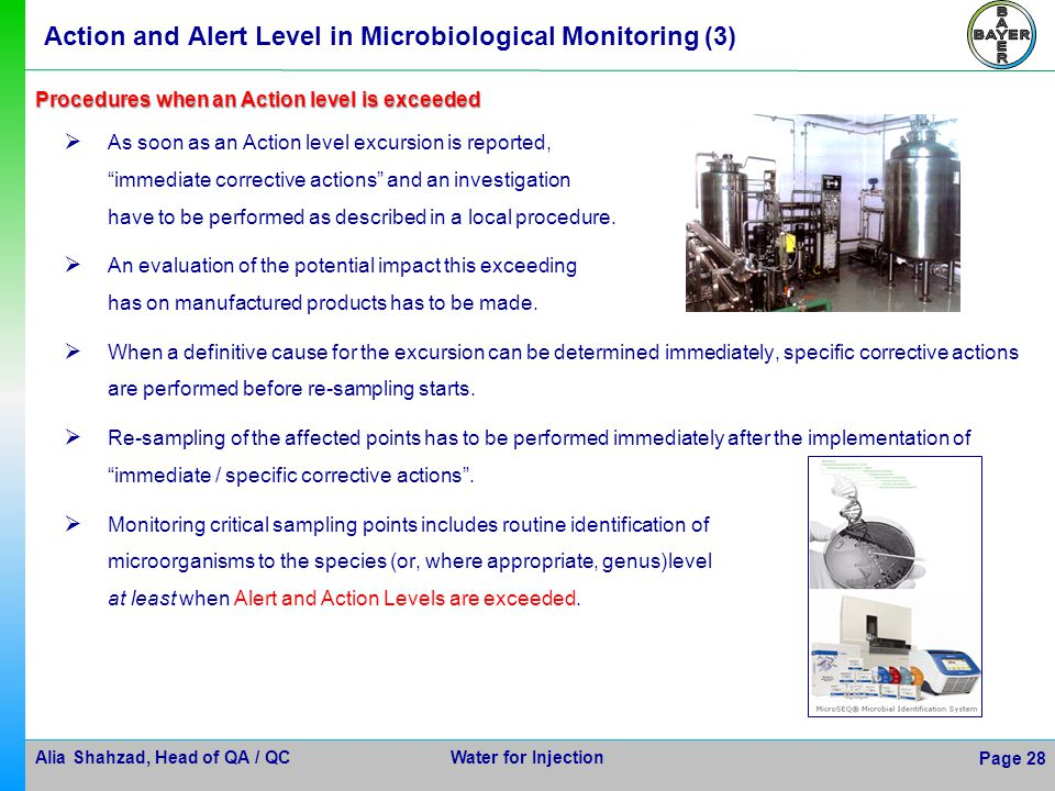 Action and Alert Level in Microbiological Monitoring (3)