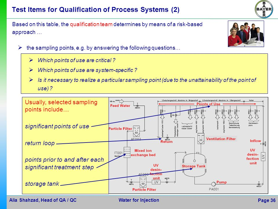 Test Items for Qualification of Process Systems (2)
