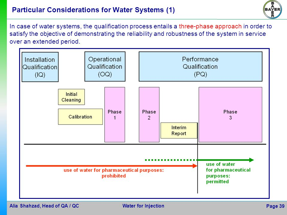 Particular Considerations for Water Systems (1)