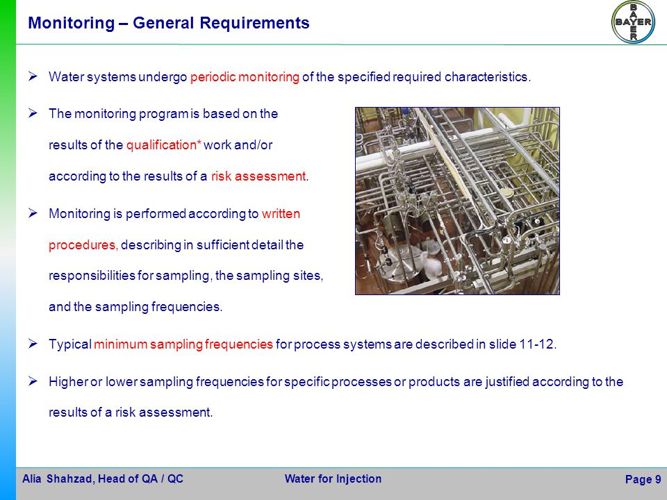 Monitoring – General Requirements