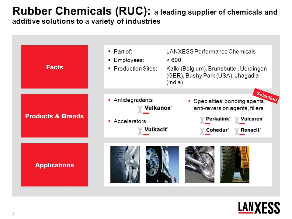 Rubber Chemicals (RUC): a leading supplier of chemicals and additive solutions to a variety of industries