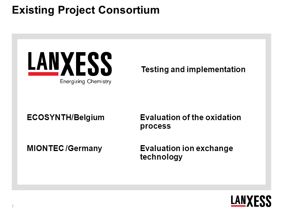 Existing Project Consortium
