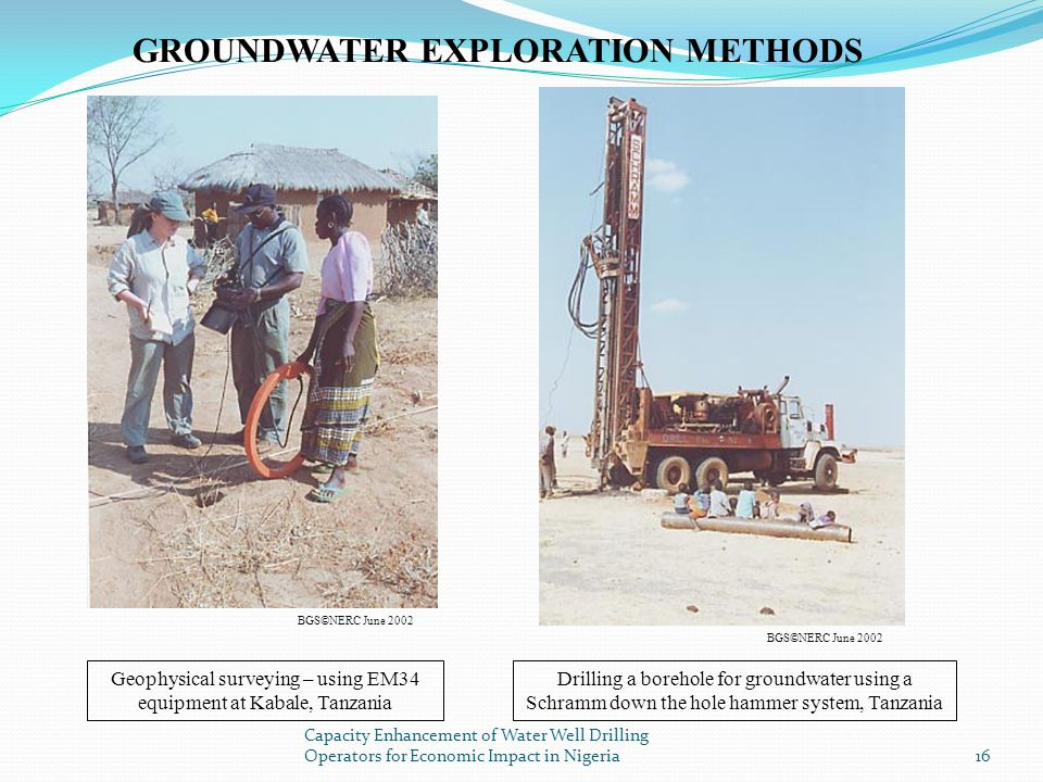 Geophysical surveying – using EM34 equipment at Kabale, Tanzania
